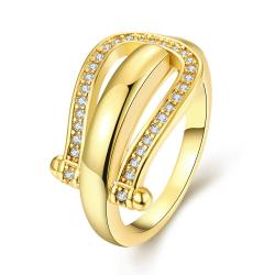 Vienna Jewelry Gold Plated Horseshoe Design Ring - Thumbnail 0