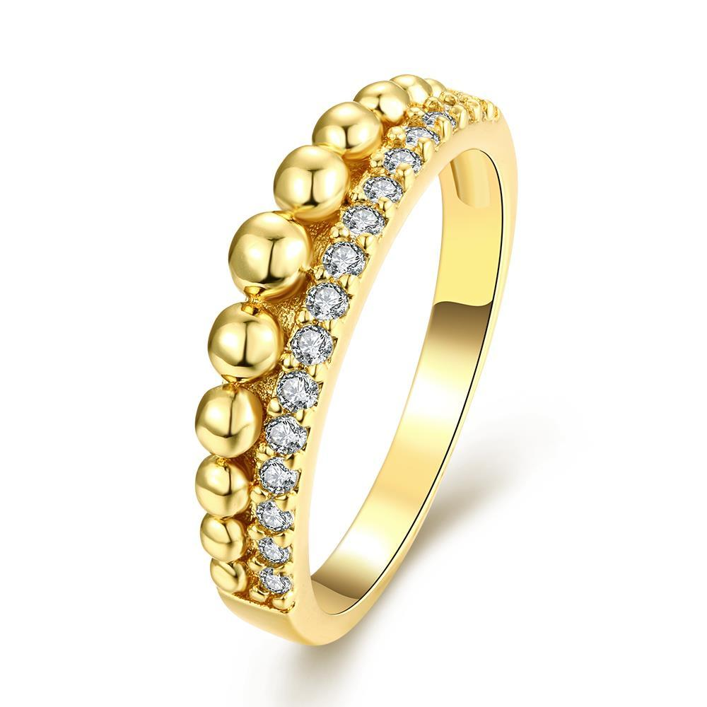 Vienna Jewelry Gold Plated Petite Sphere Ring