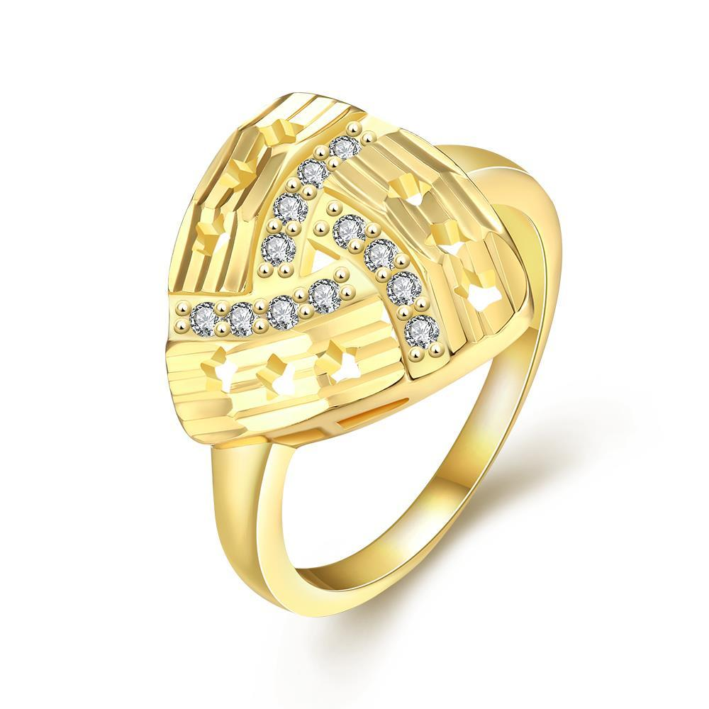 Vienna Jewelry Gold Plated Triangular Design Knot Ring