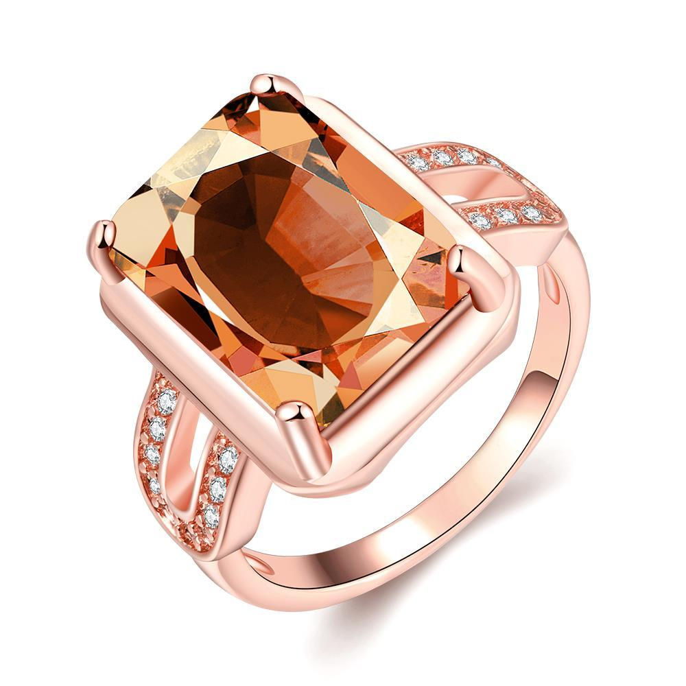 Vienna Jewelry Gold Plated New York Inspired Citrine Ring