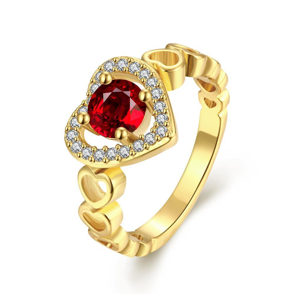 Vienna Jewelry Gold Plated Love is Everywhere Gemstone Ring