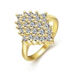 Vienna Jewelry Gold Plated Roses Full Of Jewels Ring - Thumbnail 0