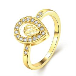 Vienna Jewelry Gold Plated Circular Jewels Infused Ring - Thumbnail 0