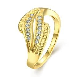 Vienna Jewelry Gold Plated Abstract Crystals Ring - Thumbnail 0