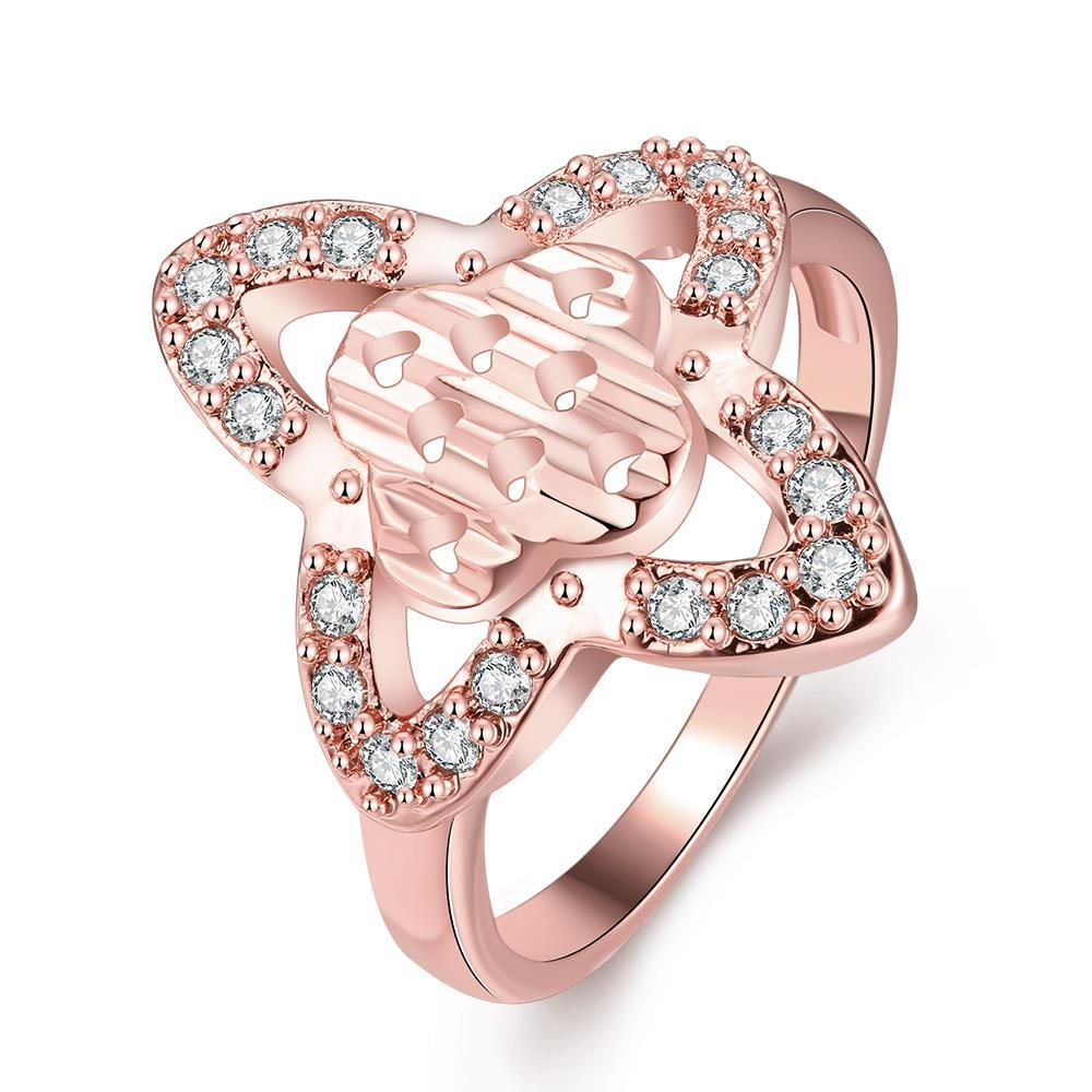 Vienna Jewelry Gold Plated Quad-Curved Jewel Ring
