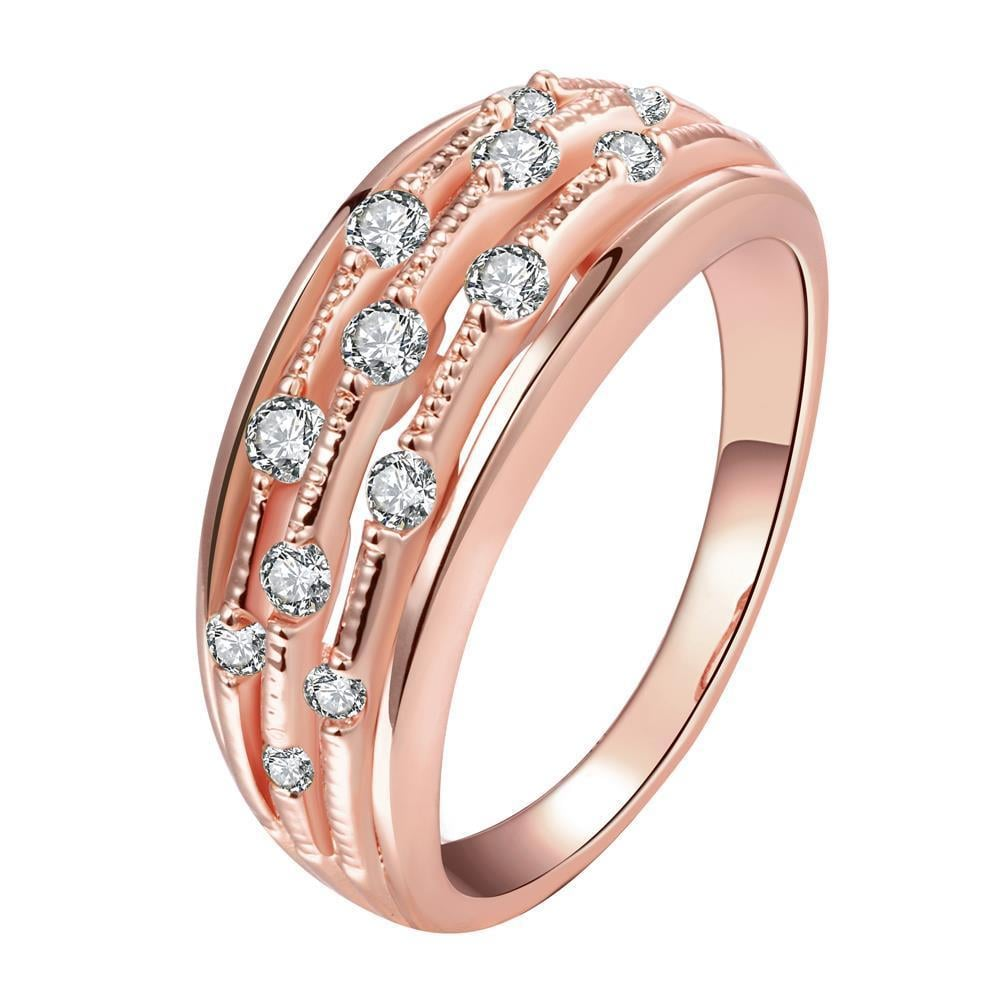Vienna Jewelry Gold Plated Jewels Accent Modern Ring