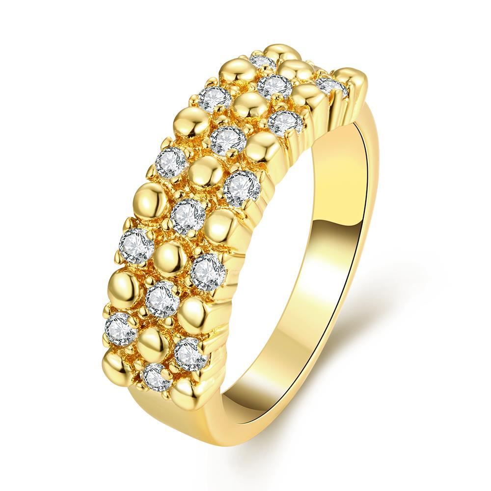 Vienna Jewelry Gold Plated Crystal Jewels Accent Ring