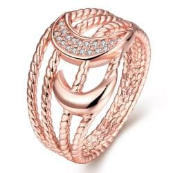Vienna Jewelry Gold Plated Intertwined Design Ring - Thumbnail 0