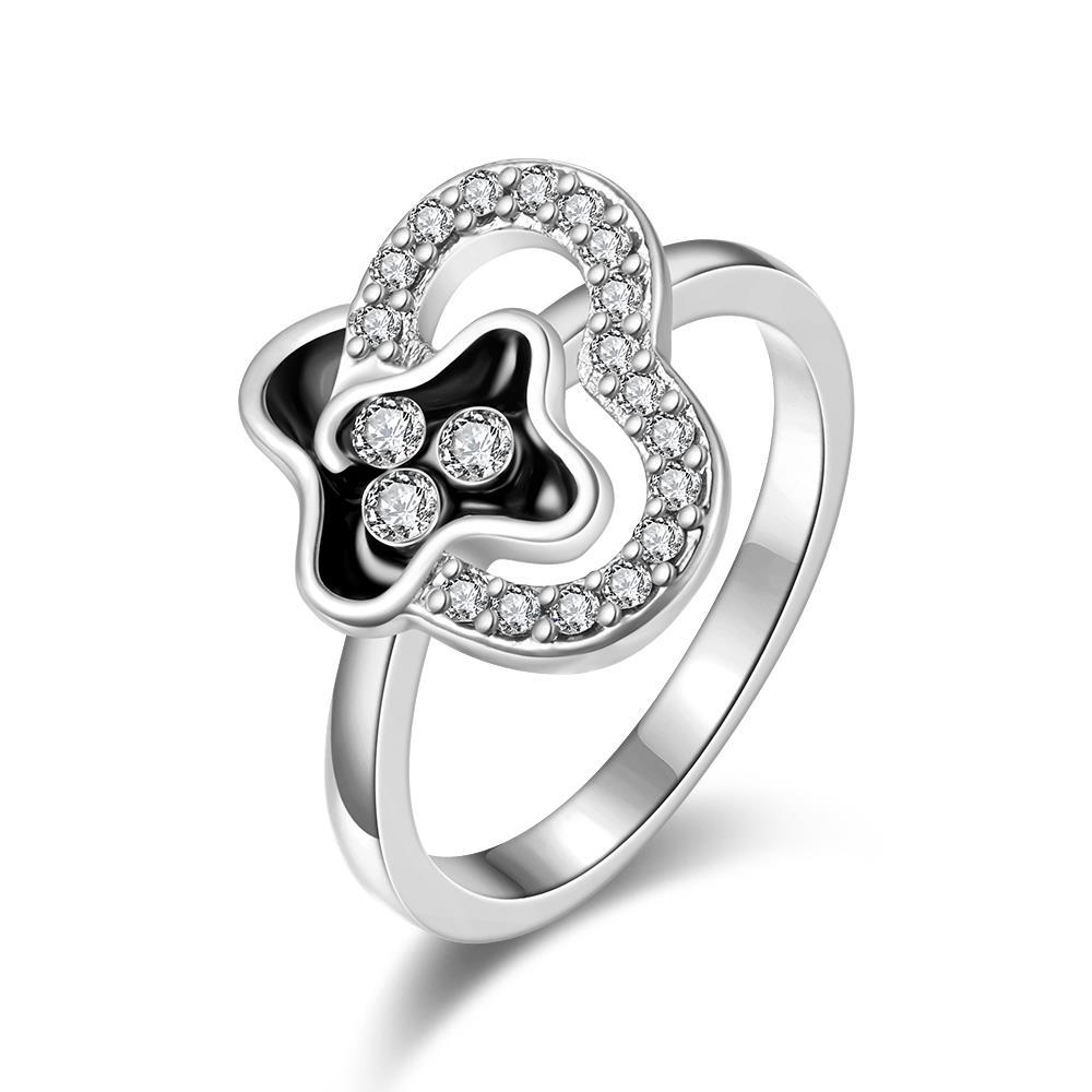 Vienna Jewelry White Gold Plated Swirl Design Jewels Covering Ring Size 7