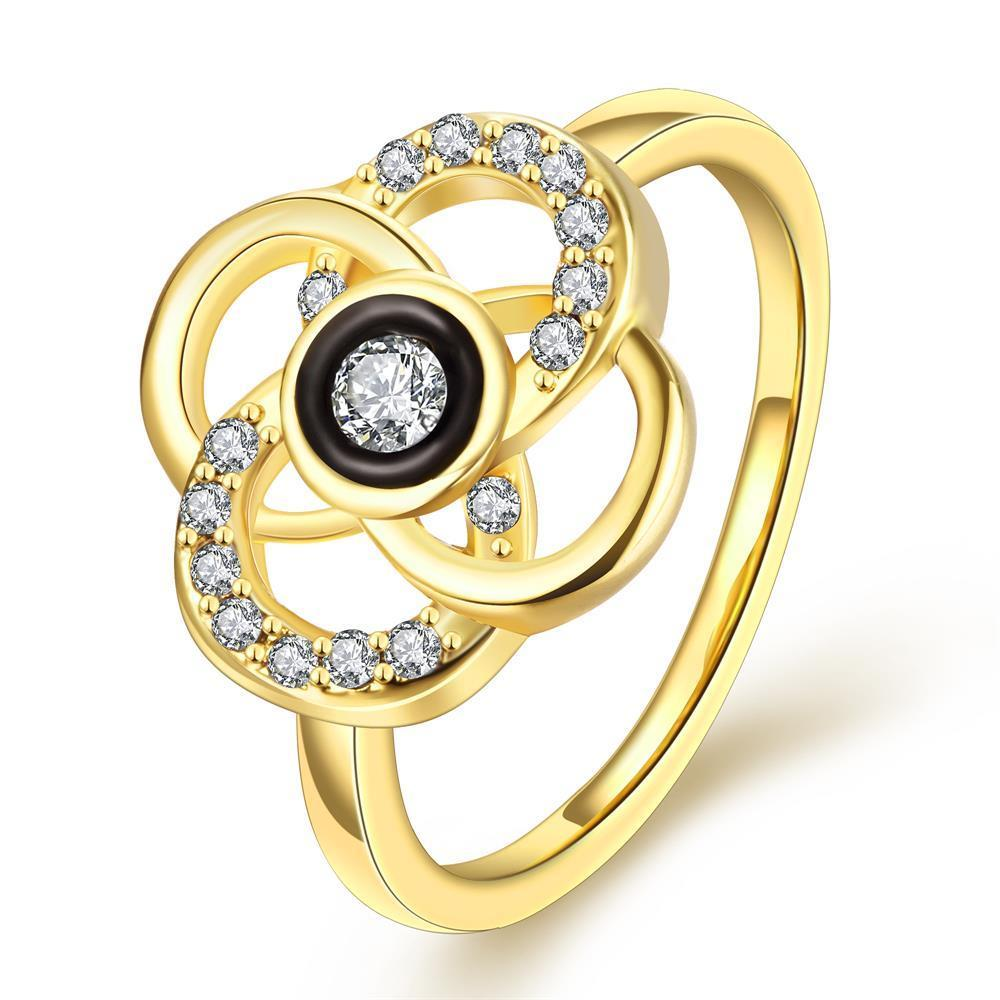 Vienna Jewelry Gold Plated Circular Intertwined Cocktail Ring Size 7