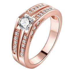 Vienna Jewelry Gold Plated Classical Engagement Jewel Ring - Thumbnail 0