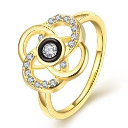 Vienna Jewelry Gold Plated Circular Intertwined Cocktail Ring Size 7 - Thumbnail 0