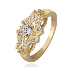 Vienna Jewelry Gold Plated Blossoming Design Ring Size 8 - Thumbnail 0