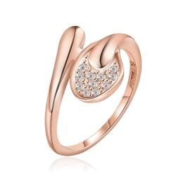 Vienna Jewelry Rose Gold Plated Matrix Love Knot Ring Size 7 - Thumbnail 0