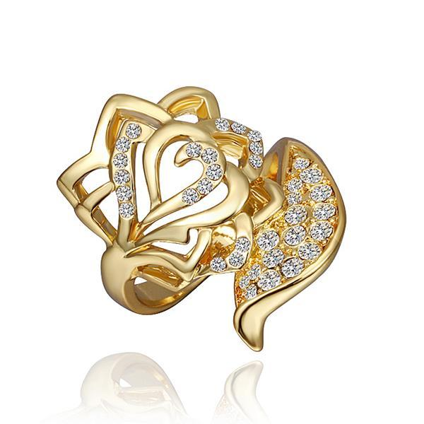Vienna Jewelry Gold Plated Crystal Jewels Ring Size 8