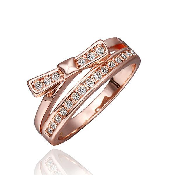 Vienna Jewelry Rose Gold Plated Jewels Covering Swirl Ring Size 8