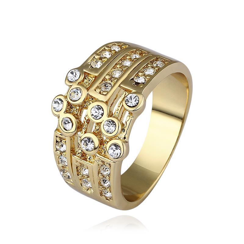 Vienna Jewelry Gold Plated Greek Design Inspired Ring Size 8