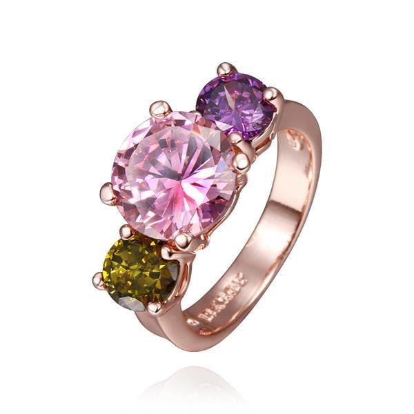 Vienna Jewelry Rose Gold Plated Meadow Inspired Ring Size 8