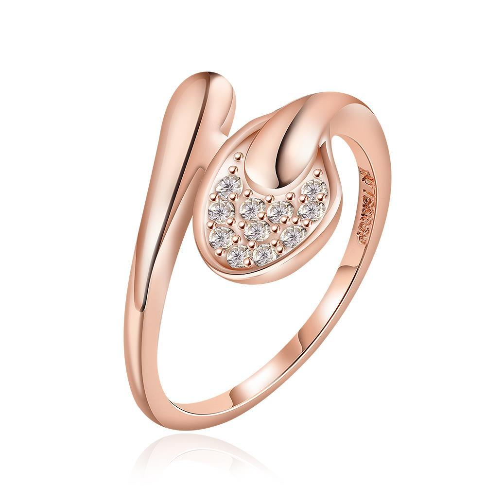Vienna Jewelry Rose Gold Plated Matrix Love Knot Ring Size 8