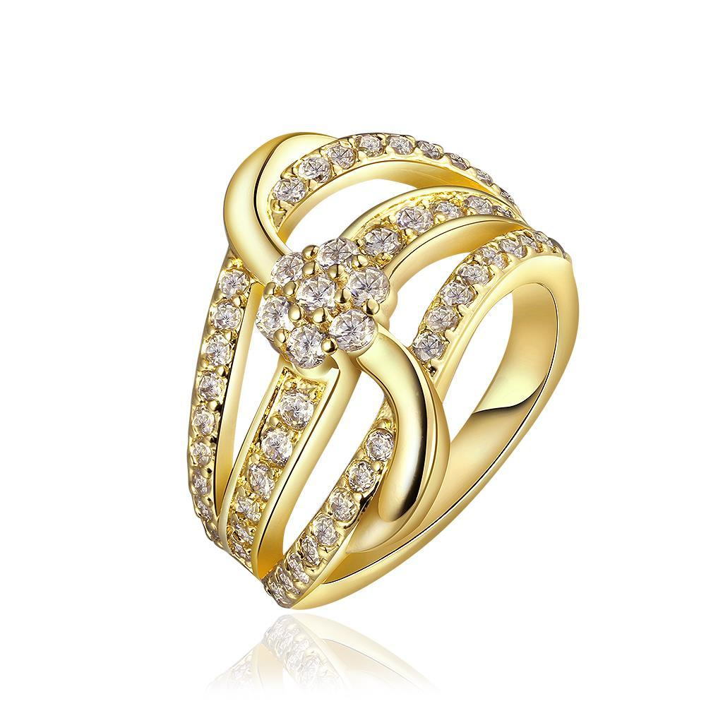 Vienna Jewelry Gold Plated Super Swirl Desinger Inspired Ring Size 8
