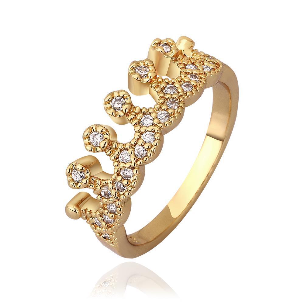Vienna Jewelry Gold Plated Swirl Desgin Tiara Ring Size 8