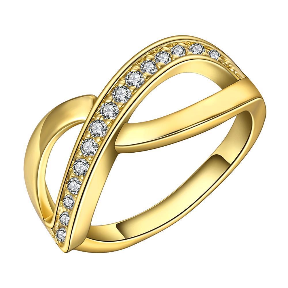 Vienna Jewelry Gold Plated Infinite Swirl Ring Size 7