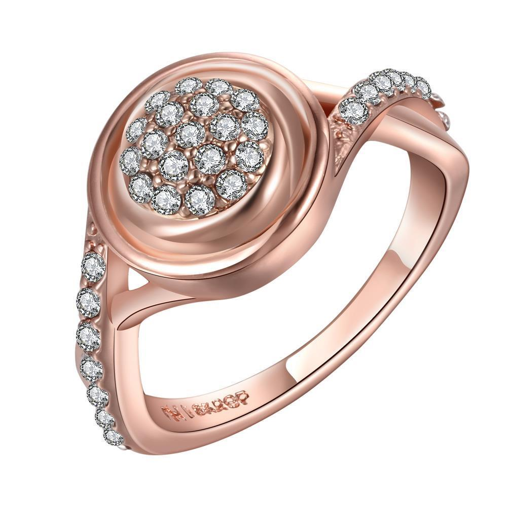 Vienna Jewelry Rose Gold Plated Main Center Jewels Covering Ring Size 7