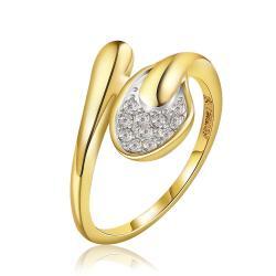Vienna Jewelry Gold Plated Matrix Love Knot Ring Size 7 - Thumbnail 0