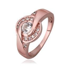Vienna Jewelry Rose Gold Plated Circular Emblem Ring Size 7 - Thumbnail 0