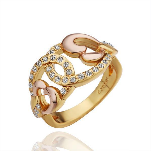 Vienna Jewelry Gold Plated Abstract Design Swirl Ring Size 8