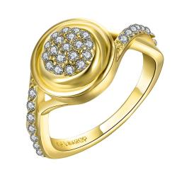 Vienna Jewelry Gold Plated Main Center Jewels Covering Ring Size 8 - Thumbnail 0