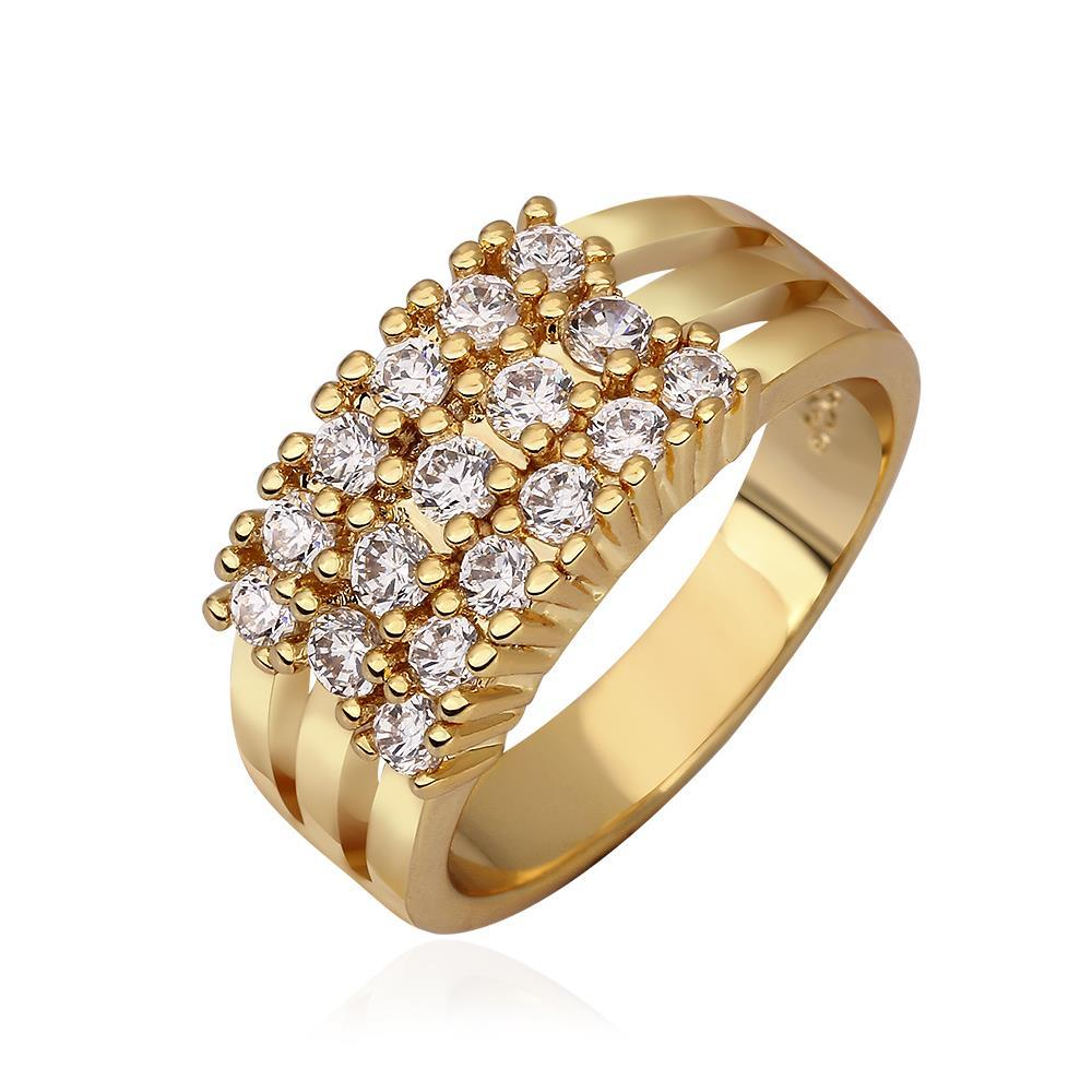 Vienna Jewelry Gold Plated Full Citrine & Jewel Cocktail Ring Size 7