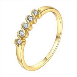 Vienna Jewelry Gold Plated Classic Swirl Crystals Ring Size 8 - Thumbnail 0