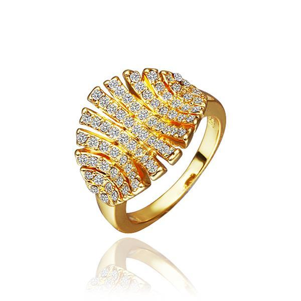 Vienna Jewelry Gold Plated Open Cut Leaf Branch Ring Size 8