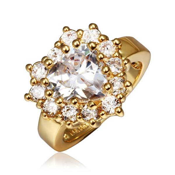 Vienna Jewelry Gold Plated Crystal Jewel with Crystal Covering Ring Size 8