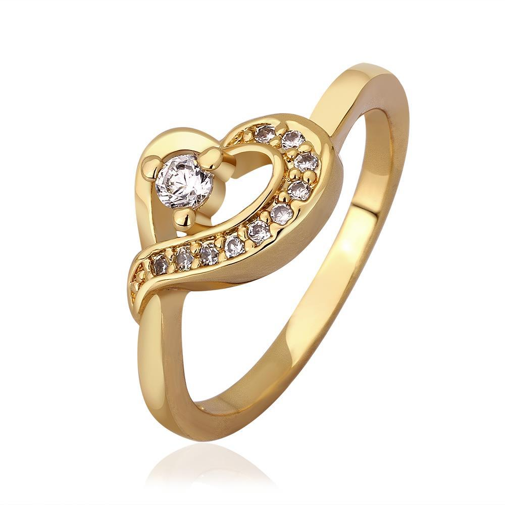 Vienna Jewelry Gold Plated Heart Knot Jewels Covering Ring Size 8