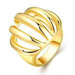 Vienna Jewelry Gold Plated Sea-Shell Inspired Ring Size 8 - Thumbnail 0