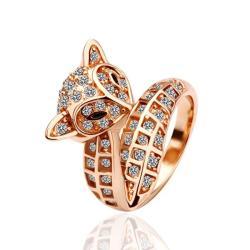 Vienna Jewelry Gold Plated Swirl Kitty Cat Ring Size 8 - Thumbnail 0