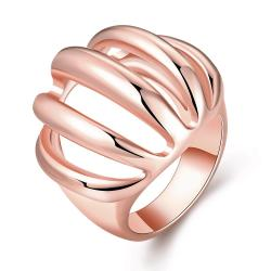 Vienna Jewelry Rose Gold Plated Sea-Shell Inspired Ring Size 7 - Thumbnail 0