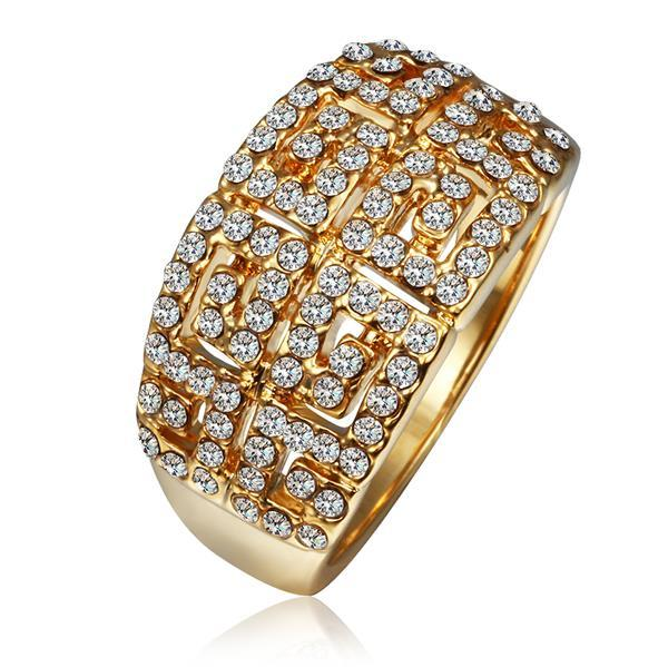 Vienna Jewelry Gold Plated Multi-Jewels Covering Cocktail Ring Size 8