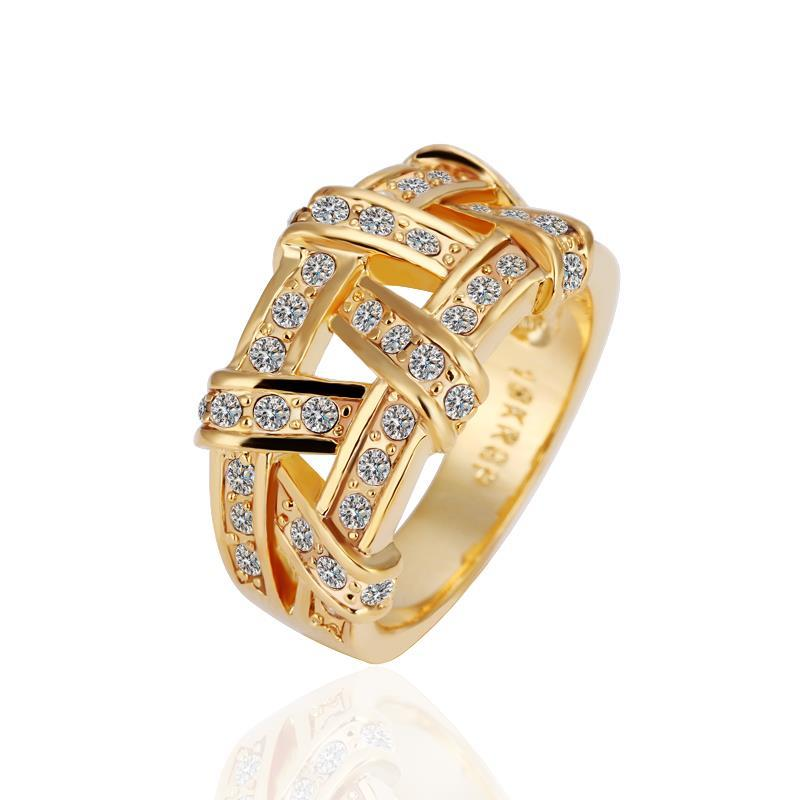 Vienna Jewelry Gold Plated Abstract Tied Jewels Covering Ring Size 6