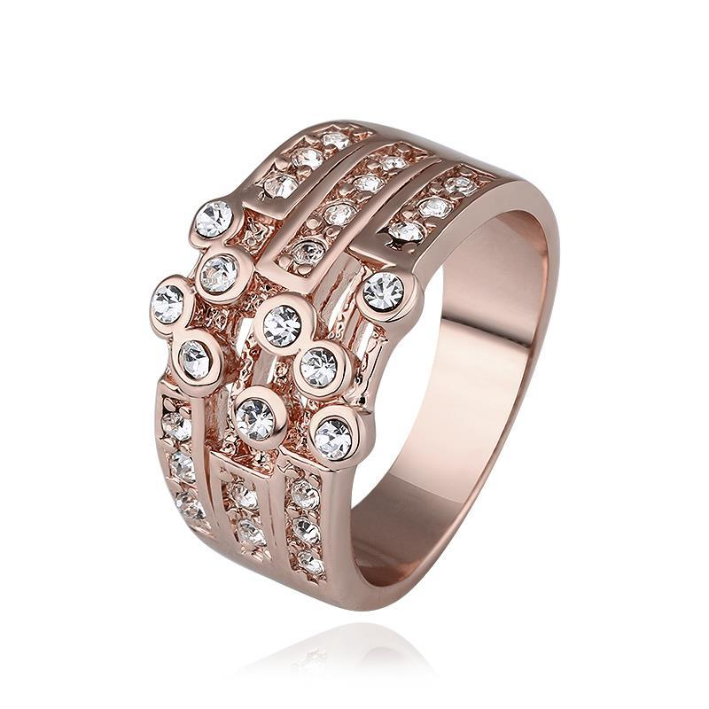 Vienna Jewelry Rose Gold Plated Greek Design Inspired Ring Size 8