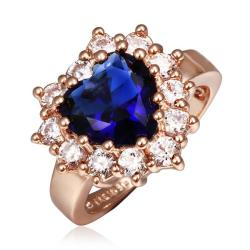 Vienna Jewelry Rose Gold Plated Crystal Jewel with Crystal Covering Ring Size 8 - Thumbnail 0