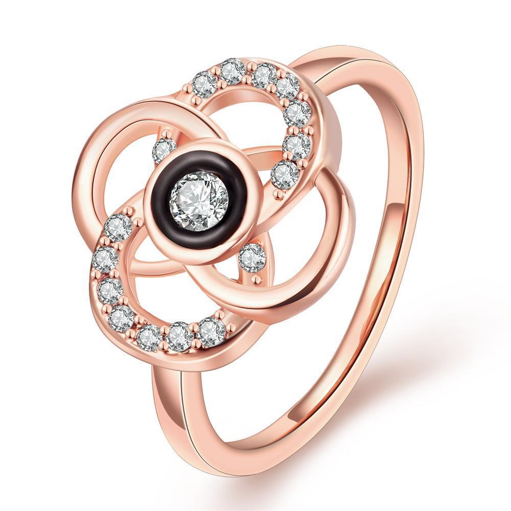 Vienna Jewelry Rose Gold Plated Circular Intertwined Cocktail Ring Size 7