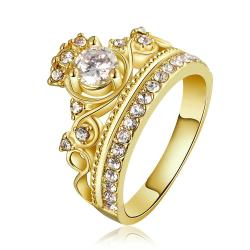 Vienna Jewelry Gold Plated The Queen's Crown Ring Size 8 - Thumbnail 0