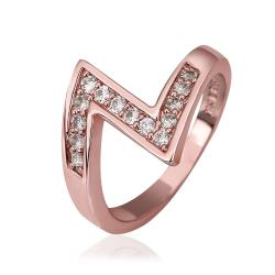 Vienna Jewelry Rose Gold Plated Modern Twist Ring Size 8 - Thumbnail 0