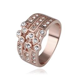 Vienna Jewelry Rose Gold Plated Greek Design Inspired Ring Size 8 - Thumbnail 0