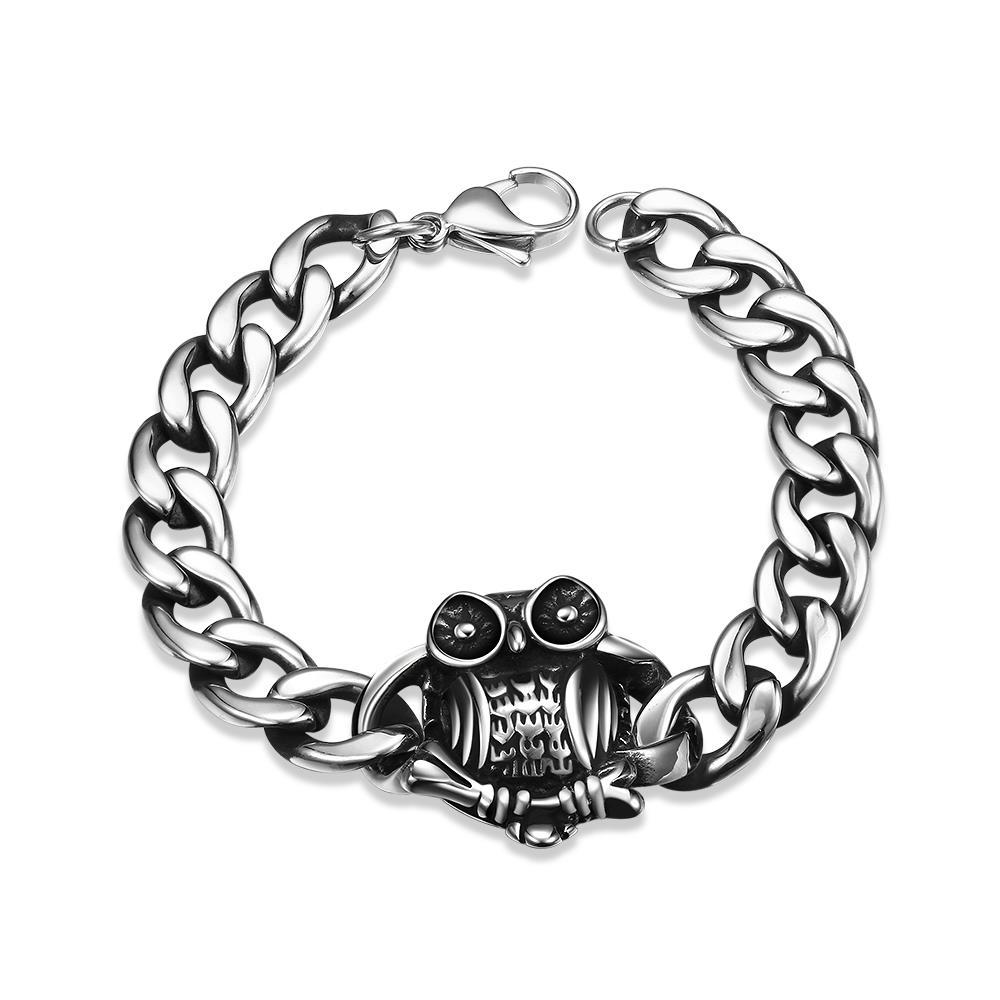 Vienna Jewelry Emblem Piece Stainless Steel Bracelet - Thumbnail 0