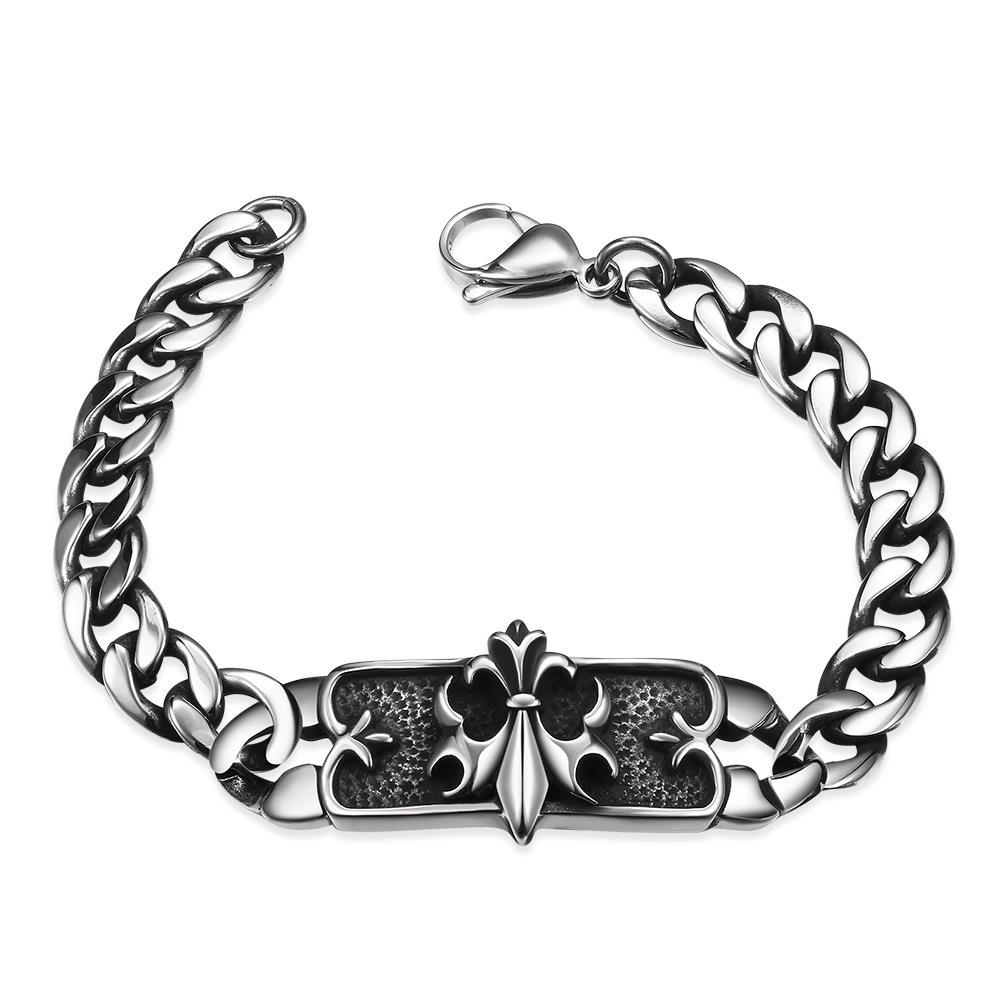 Vienna Jewelry Ancient Roman Emblem Stainless Steel Bracelet
