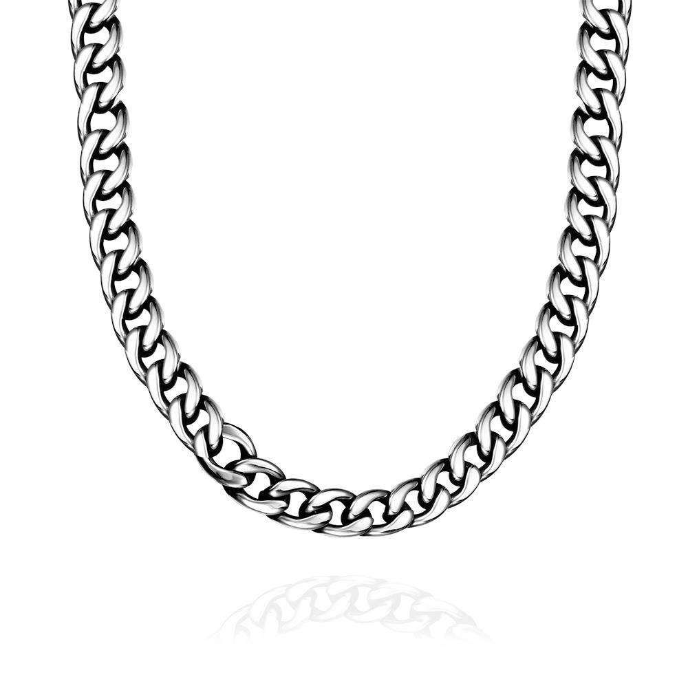 Vienna Jewelry Greek Inspired Stainless Steel Necklace